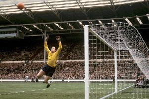 Gordon Banks in action for England in 1965. Picture: PA/PA Wire.