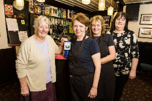 The Glen View Inn has raised more than �6,000 for Overgate Hospice over the last seven years. From Left: Lesley Crossland from Todmorden Friends of Overgate, landlady Gaynor Hallinan, Jayne Hignett and Patricia Eaton.