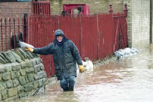 A flood warning is in place in the Upper Calderdale valley. 'File photo.