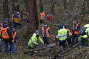 Volunteers of Slow the Flow at Hardcastle Crags