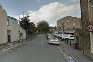 Greenacre Street in Clitheroe where the alleged assault took place.