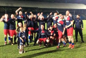 Elland United celebrate winning the Invitation Cup