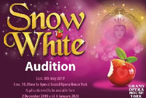 Audition details for Snow White at the Grand Opera House, York