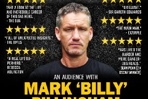 Mark 'Billy' Billingham is at the Victoria Theatre, Halifax, next week