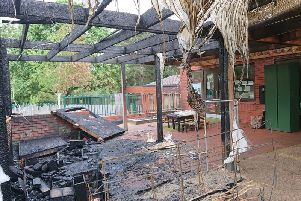 The aftermath of the fire. Picture: Graham Whyte.