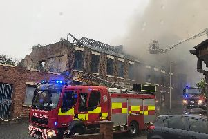 Flames at Hawthorn Leslie site in suspected arson attack.