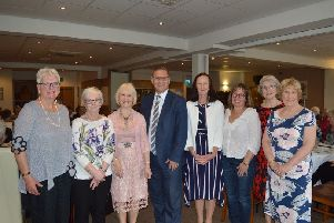 Landmark event: Members of the Brighouse Ladies Luncheon Club with MP Craig Whittaker.