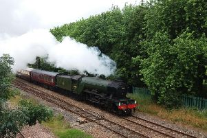 Flying Scotsman passing through Lostock Hall on Saturday captured by reader David Cross, of Lostock Hall