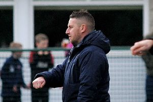 Buxton FC v Scarborough Athletic, pictured is manager Paul Phillips