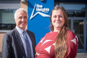 Chairman of Governors Steve Wilson with headteacher Susannah Berry