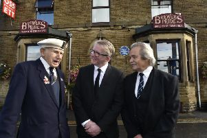 Ossett's first blue plaque has been unveiled, honouring Reggie Earnshaw, who died in World War 2 aged just 14.