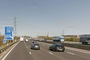 The lorry driver was stopped on the northbound section of the M1, near junction 41.
