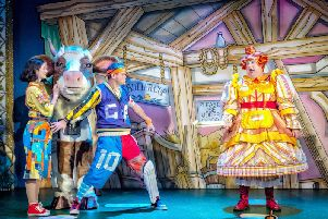 Family fun at Harrogate Theatre - Flashback to last year's hugely successful pantomime.