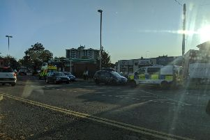 Police and ambulance crews have attended a crash on a major Wakefield road this morning.