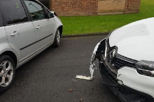 Two suspects fled the scene of the collision in Eastmoor. Photo: West Yorkshire Police.