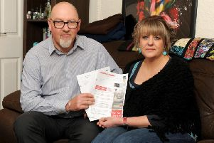Andy Lindsay and wife Bronwyn O'Brien. Andy was hit with a parking fine after pulling over in his car while suffering a hypoglycemic attack. The private parking company has ignored the couple's three attempts to contest the fine on the health grounds.