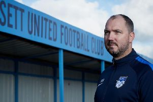 Ossett United chairman Phil Smith. PIC: John Clifton.