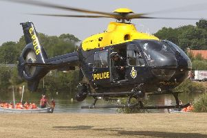West Yorkshire Police helicopter.