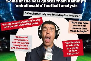 Kammy is one of the best-loved personalties in football punditry and typically found pitchside on a Saturday afternoon.