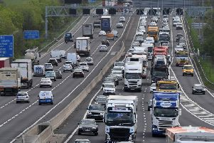 Motorists face up to 45 minutes of congestion on the M1 this morning after a multi-vehicle collision on the M1. Stock image.