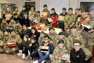 Caring cadets send Christmas treats to armed forces abroad