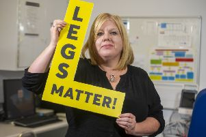 Dr Leanne Atkin, vascular nurse consultant at Pinderfield Hospital, is trying to raise awareness with the Legs Matter campaign of how poor-quality healthcare for leg and foot conditions is leading to limb amputations which could have been avoided. Picture Tony Johnson