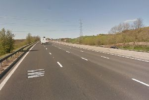 A woman was seriously injured after a Christmas Day collision on the M1 at Wakefield. Photo: Google Maps.
