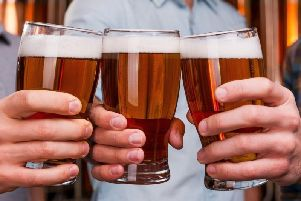 The UK guideline recommendation is to consume no more than 14 units over a seven-day period - the equivalent of five pints of beer or seven glasses of wine.