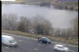 Police are responding to reports of a pedestrian on the M1 at Wakefield this afternoon. Photo: Highways England