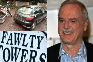 The driver of the Peugeot was compared to the classic comedy character, Basil Fawlty, played by John Cleese, pictured.