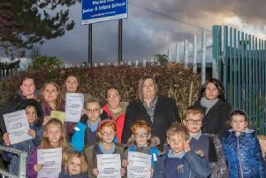 Parents had petitioned against the academy order. Photo by Lee Ward.