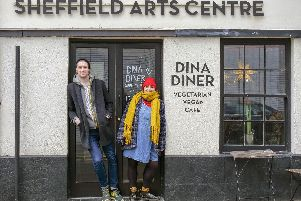 Stan Skinny and Teah Lewis, who are organising 'Sheffield Does 69 Love Songs' at DINA on Cambridge Street later this month. Picture: Scott Merrylees