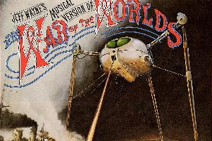 Part of the classic front cover of Jeff Waynes Musical Version of The War of the Worlds album.