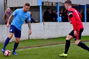 Tom Greaves scored the only goal as Ossett United defeated Gresley 1-0.
