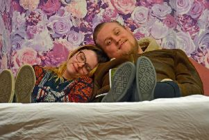 Lauren Monk and Matt Whatley as Margaret and William in Abi Morgan's Love Story. Photos by Gilly Fontaine-Grist. (s)
