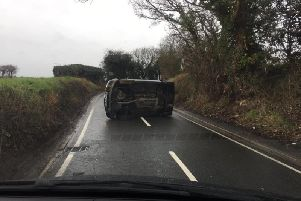 The crash on Blacker Lane this morning.