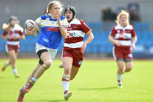 Leeds Rhinos' Caitlin Beevers in action during the Women's Super League Grand Final last year.