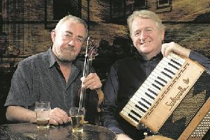 Fiddle player Aly Bain and accordion player Phil Cunningham will perform as a duo at Pocklington ARts Centre on Thursday 28 March.