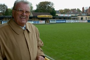 Bill Fotherby pictured at Harrogate Town's Wetherby Road ground
