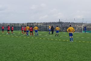 Imperian League's Dendale FC, in red, defeated Shire FC 5-2