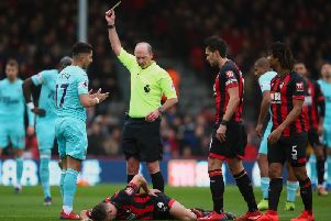 Newcastle United fans were disappointed with the performance of referee Mike Dean