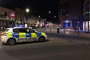 A man was stabbed by a woman in the Wicker area yesterday