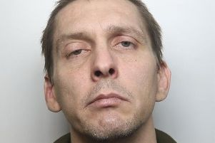 Pictured is nuisance-caller Craig Mawby, 36, of no fixed abode, who has been jailed for six weeks after admitting making hoax 999 calls in Bolsover to Derbyshire fire service.