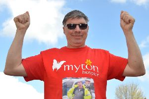 William Haynes is taking part in a charity skydive, raising money for Myton Hospice.