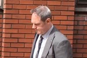 Dominic Peachey outside Leeds Crown Court
