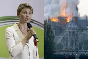 A West Yorkshire MP has told how she had to turn away as flames engulfed Notre Dame cathedral in Paris.