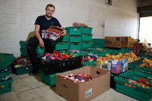 Real Junk Food Project founder Adam Smith at the Kindness Sharehouse in Wakefield.