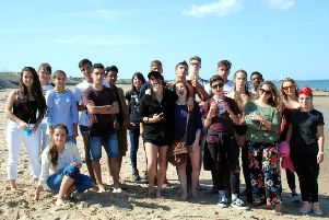 Northumbria School of English students at Whitley Bay.