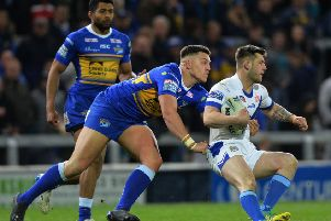 Owen Trout in Challenge Cup action for Leeds Rhinos against Workington. Picture Bruce Rollinson.