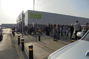 Families queue for opening of The Range in Wakefield